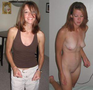 angezogen und nackt freundin privates nacktfoto