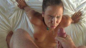 fette ladung sperma bukkake gesicht fresse