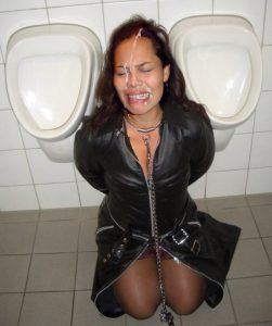 toilettensklavin vollgewichst