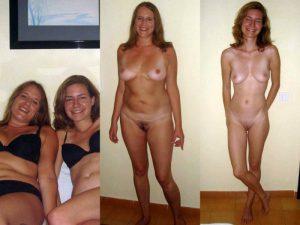 zwei freundinnen machen nacktfotos von sich